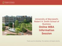 Online MBA Information Session
